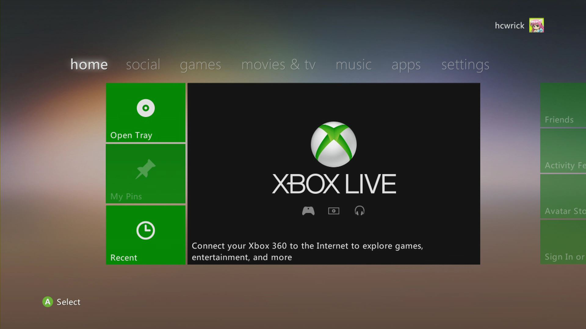 Setting the Video output on the Xbox
