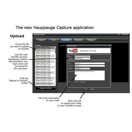 Hauppauge Capture | YouTube tab